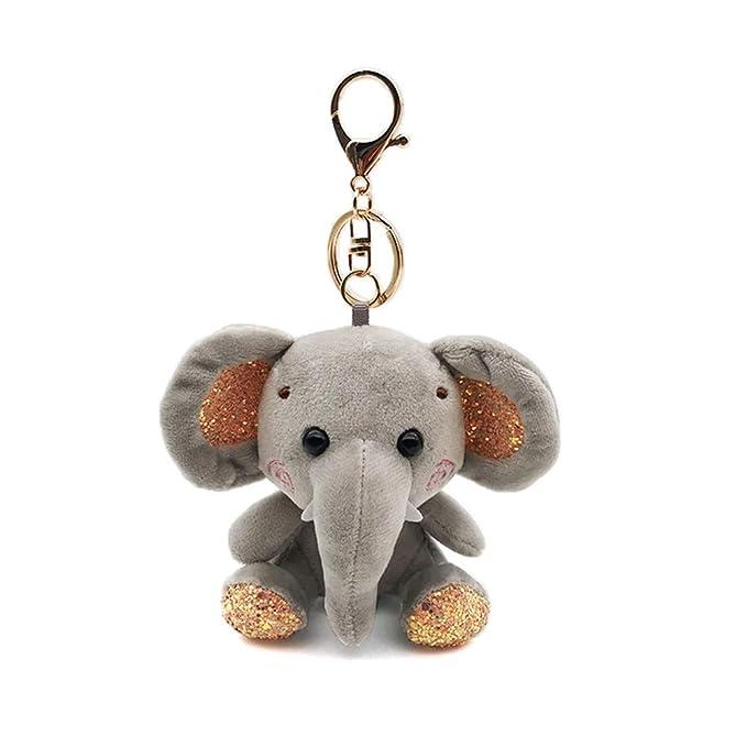 Risxffp Mini Colgante Llavero Elefante De Peluche ...