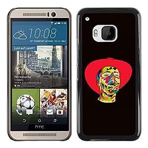 Psychedelic Cowboy - Metal de aluminio y de plástico duro Caja del teléfono - Negro - HTC One M9