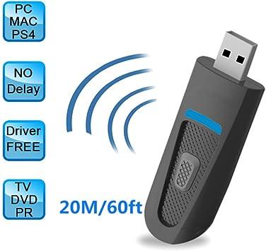 HRRH Adaptador Bluetooth 5.0 de Baja latencia, transmisor Dongle de Audio inalámbrico USB sin Controlador para PS4 Nintendo Switch Windows 10 7 PC TV [2 PCS]: Amazon.es: Electrónica
