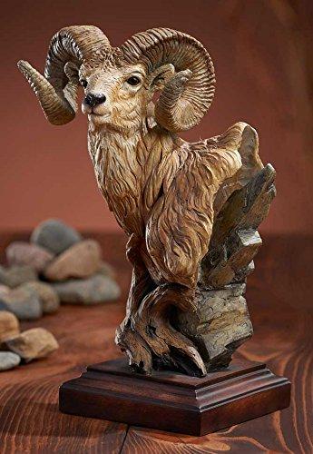 Level Headed - Ram Sculpture by Greg (Bighorn Sheep Ram)