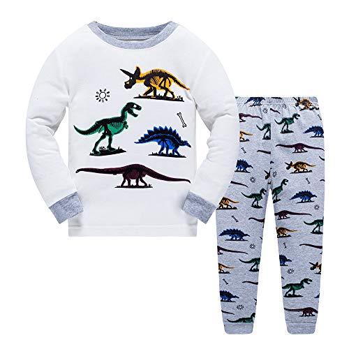 LitBud Older Boys Pyjamas Dinosaur Nightwear Sleepwear Long Sleeve Pjs Set for Kids Toddler 9-10 Years 10T Christmas Thanksgiving Gifts