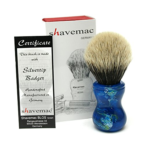 Shavemac 2 Band Silvertip Badger Shaving Brush T01 by shavemac