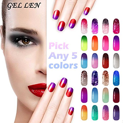 Gellen Pick Any 5 Colors Temperature Color Changing Gel Nail