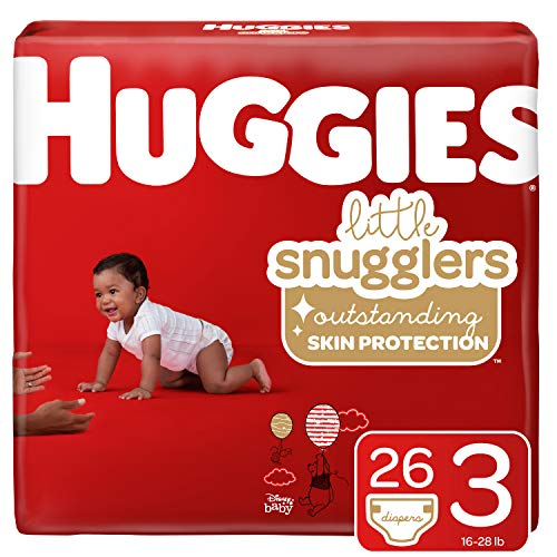 Huggies Little Snugglers Diapers, Size 3, 26 Count (Packaging May Vary)