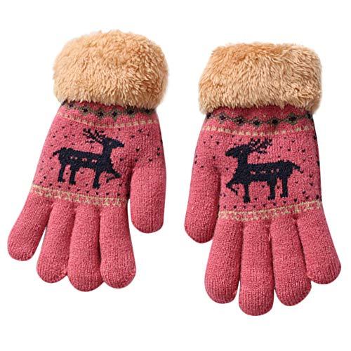 Natale cartoni ragazza YunYoud animati caldo guanti Caldo ispessimento bambino guanti dei cervo ragazzo caldo caldi bambino carino di Natale cervi inverno ntqXABq