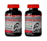 Testosterone Booster Diet - Extreme Male Pills - longjack eurycoma longifolia - 2 Bottles 120 Tablets