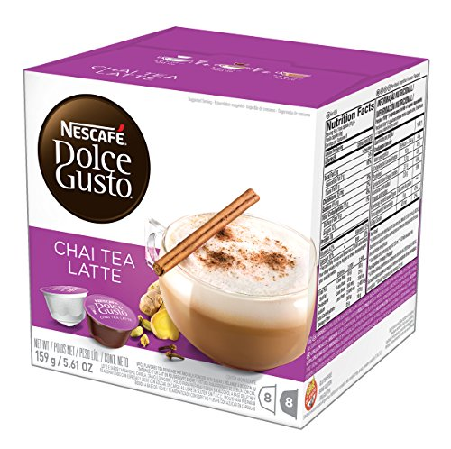 (NESCAFÉ Dolce Gusto Coffee Capsules  Chai Tea Latte 48 Single Serve Pods, (Makes 24 Specialty Cups)   48 Count)