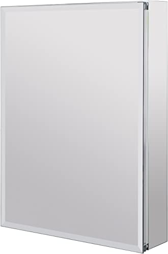 Utopia Alley Aluminum Medicine Cabinet with Glass Shelves, Single Door, 24 L x 30 H