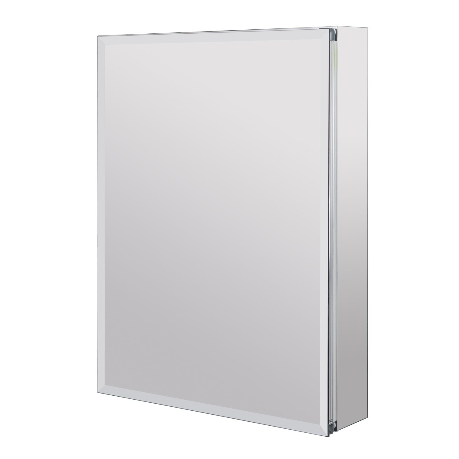 Utopia Alley Aluminum Medicine Cabinet with Glass Shelves, Single Door, 24'' L x 30'' H