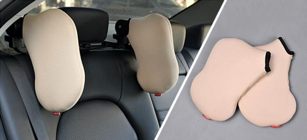 Amazon.com: Klumart Car Seat Travel Pillow Neck Support Cushion,Car Pillow Used To Sleep , beige: Sports & Outdoors