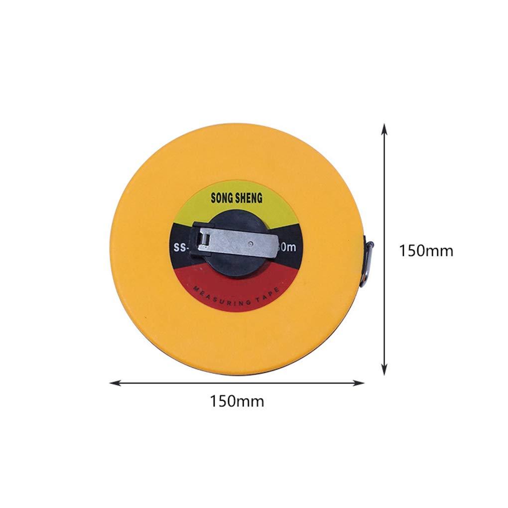 Yanana Cinta m/étrica de fibra de vidrio de 10m 20m 50m herramienta de medici/ón Medici/ón suave Regla Arquitectura T/écnica 30m 15m