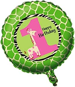 Creative Converting Wild at One Giraffe Two Sided Mylar Foil Round Balloon