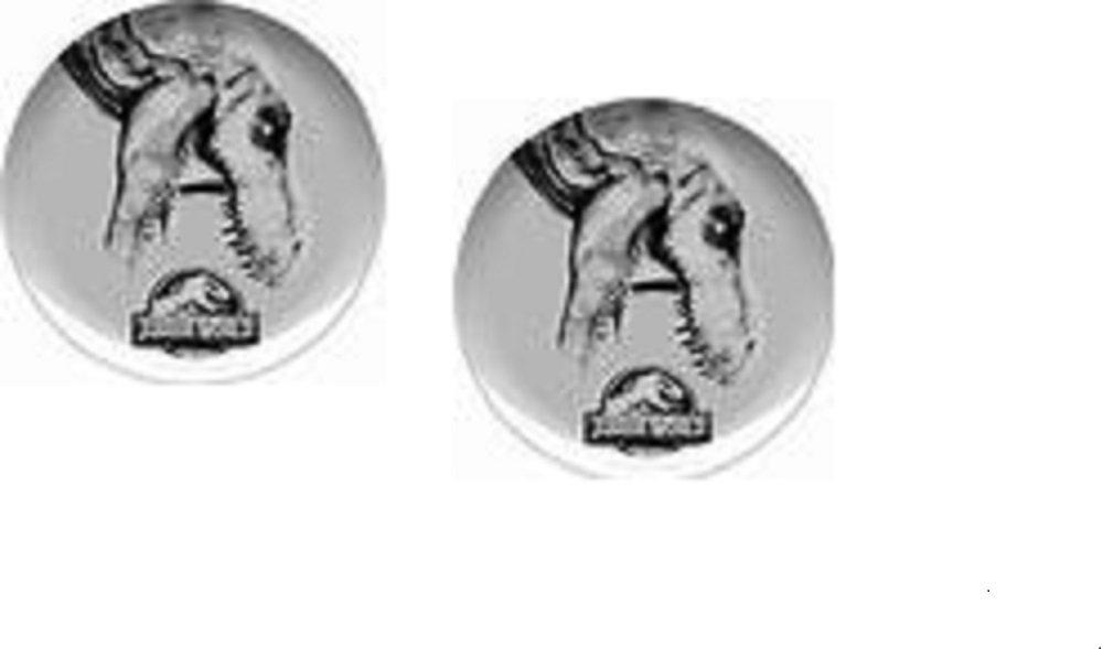 Jurassic World Zak Designs 10'' Melamine Kids Dinner Plate Gray/Black ~ set of 2 by ZAK Designs (Image #1)