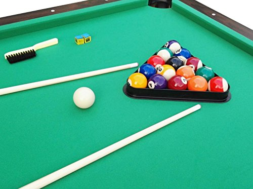 Pool Central B055-7FT Game Table, Brown/Green, 7' x 3.96' by Pool Central (Image #3)