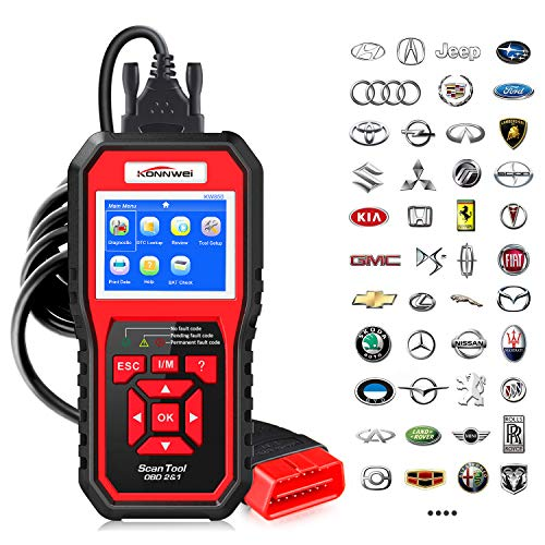KONNWEI KW850 Professional OBD2 Scanner Auto Code Reader Diagnostic Check Engine Light Scan Tool for OBD II Cars After 1996 (Original)