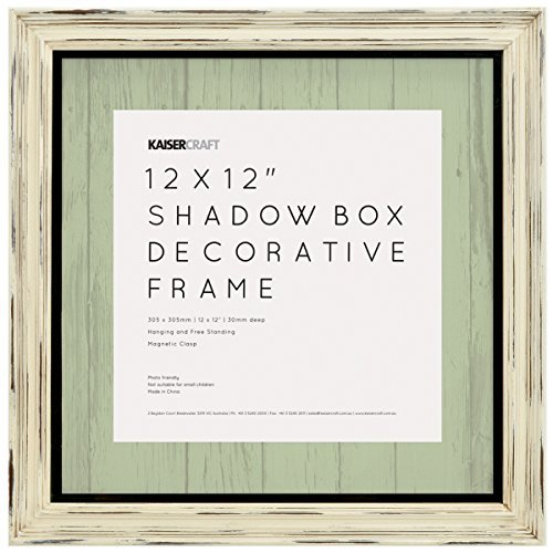Kaisercraft SF815 N/A Shadow Box Frame 12X12-Antique Whit...