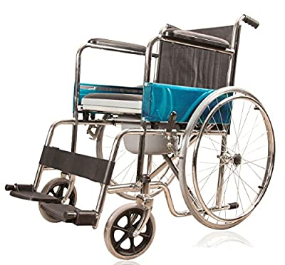 JSB W02 Folding Patient Wheelchair With Commode Facility