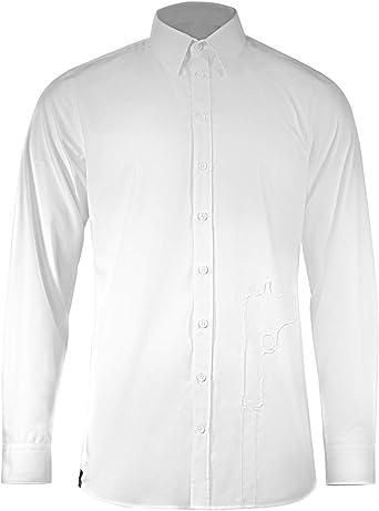 Musterbrand Hitman Camisa Hombre Diplomacy Agent 47 Blanco: Amazon.es: Ropa y accesorios