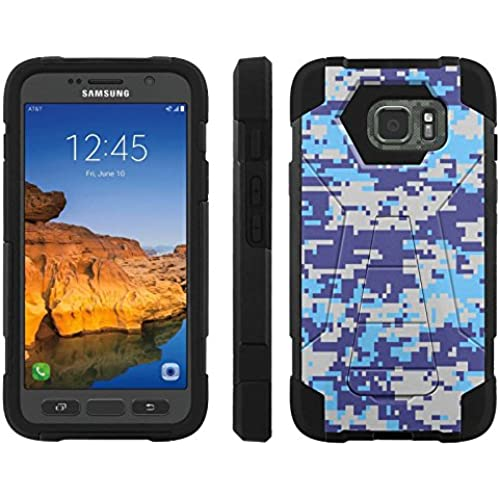 AT&T [Galaxy S7 Active] ShockProof Case [ArmorXtreme] [Black/Black] Hybrid Defender [Kickstand] - [Air Force Blue Camo] for Samsung Galaxy [S7 Active] Sales