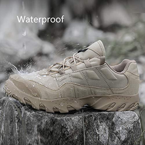 HJHHJHAB Bottes de l'armée Tactique Hommes Chaussures de Sport Basses imperméables Chaussures de randonnée en Plein air… 4