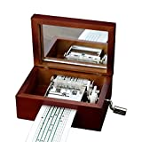 YouTang Vintage Wood 15 Note Mechanism Musical Box Handcrank Music Box Gift (Beech)