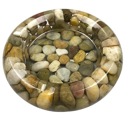 OYAMIHUI Natural Stone Pebbles Ashtray ()