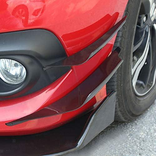 8,2 pies Sunsbell Universal Auto de Choque protectoer Coche Delantero Lip Spoiler 60 mm Ancho de Goma Exterior del Labio Parachoques Coche de la Tira Taloneras 2,5 M 2PCS