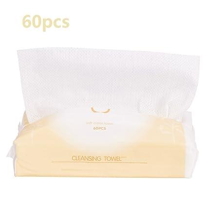 Limpieza de algodón Tejido facial suave y portátil Telas no tejidas suaves Maquillaje cosmético blanco Toallitas