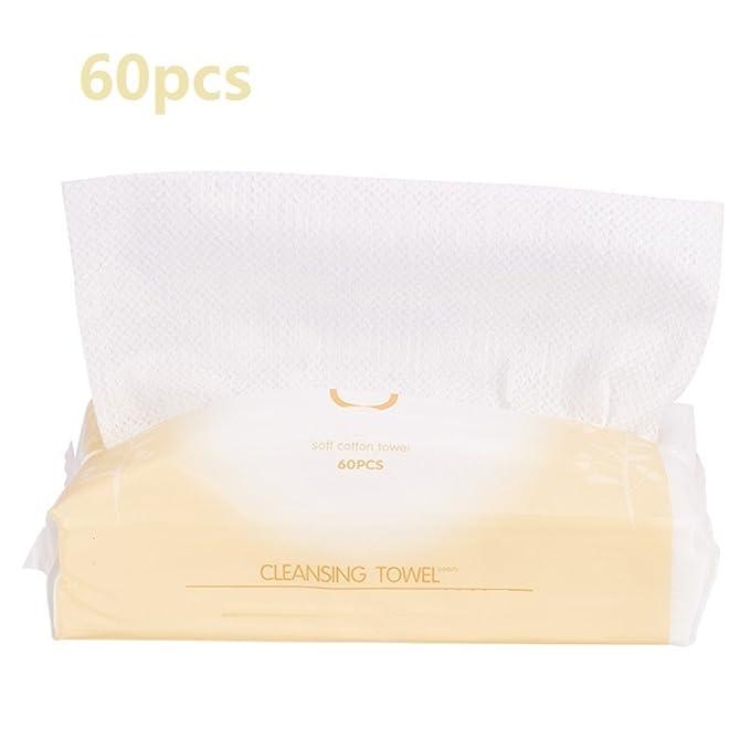 ... suaves Maquillaje cosmético blanco Toallitas desmaquillantes de limpieza facial Toallitas húmedas diseñadas para viajes (Appr.60pcs): Amazon.es: Belleza