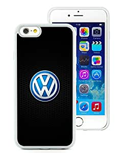 For iPhone 6,100% Brand New Volkswagen logo 2 White For iPhone 6(4.7) TPU Case