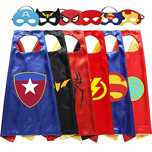 (Cartoon hero costumes and dress up for kids - perfect party costume cloak and)