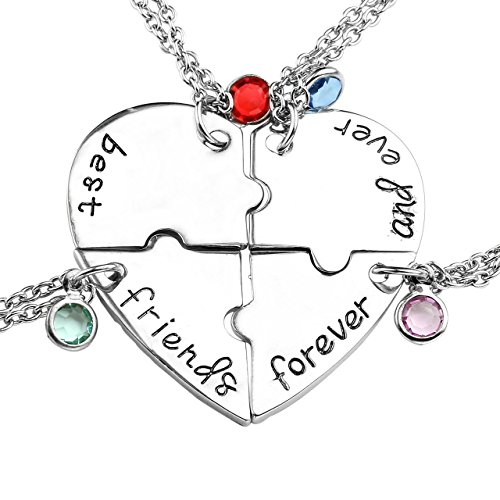 Top Plaza Rhinestone Friendship Necklaces
