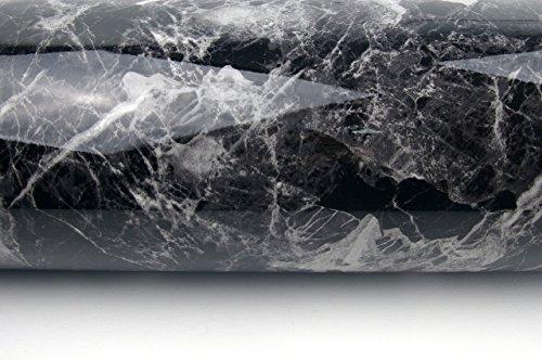 Very Berry Sticker Black Grey Granite Look Marble Effect