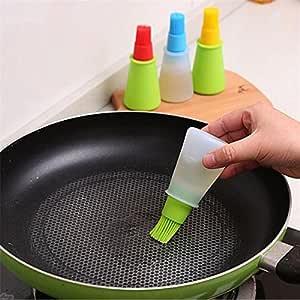 Silicone Oil Brush Bottle Kitchen BBQ Tools Cooking Pancake Baking Basting LC