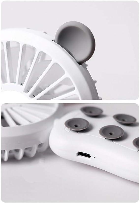 Dtuta - Pequeño Ventilador con Fuente de alimentación y Soporte Plegable para teléfono móvil, diseño de Oso, ABS + ...
