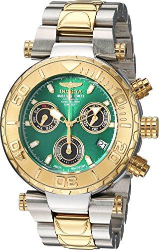 Men's 'Subaqua' Quartz Stainless Steel Casual Watch, Color:Two Tone (Model: ) - Invicta 25804