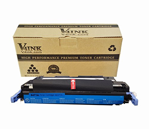 V4INK Replacement 502A Q6471A Toner Cartridge-Cyan 4000 Page Yield for Color LJ 3600 3800 CP3505 Series