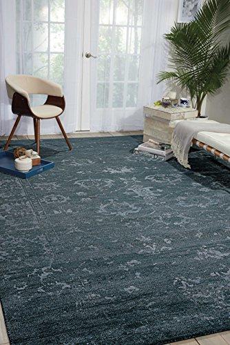 Nourison Silk Shadows (SHA15) Blstn Rectangle Area Rug, 8-Feet 6-Inches by 11-Feet 6-Inches (8'6