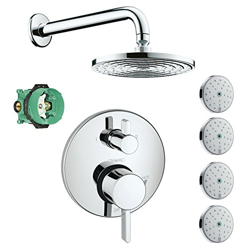 hansgrohe-ksb04231-27474-77pc-2-raindance-downpour-air-showerhead-kit-with-4-body-sprays-thermostati