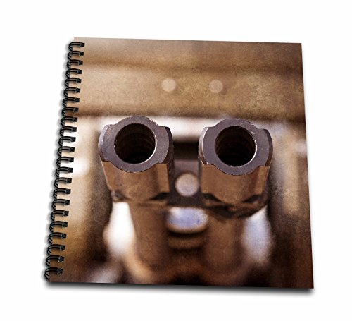 3dRose Alexis Photography - Abstracts of Aviation - Double barreled military aircraft automatic cannon muzzles - Drawing Book 8 x 8 inch (db_272019_1)