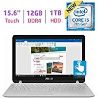 ASUS 15.6?? 2-in-1 Touchscreen FHD 1080p Laptop PC, 7th Intel Core i5-7200u, 12GB DDR4 SDRAM, 1TB HDD, Built-in fingerprint reader, Windows Ink Capable Display, Backlit Keyboard, Windows 10