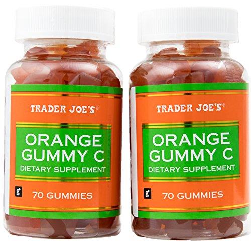 Orange Gummy Vitamin C Dietary Supplement - Two Bottles