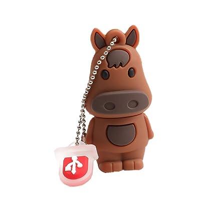 Amazon com: Qifumaer 8GB Novelty Cute Zodiac Horse USB 2 3