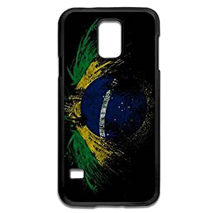 Samsung Galaxy S5 Cases Creative Brazilian Flag Design Hard Back Cover Shell Desgined By RRG2G