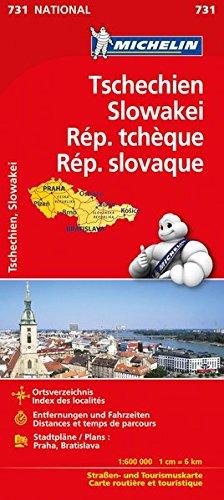 Michelin Tschechien - Slowakei: Straßen- und Tourismuskarte (MICHELIN Nationalkarten, Band 731)