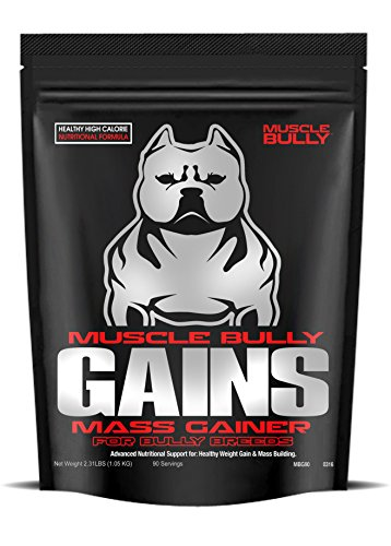 Muscle Bully Gains - Mass Weight Gainer for Bully Breeds (90 Serving)