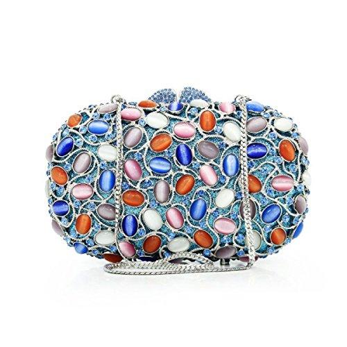 Señora Bolso De Noche Cristal Diamantes Vestido Bolso De Embrague Bolso D