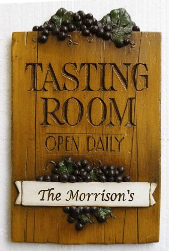 - Piazza Pisano Wine Decor Personalized Wine Tasting Room Sign