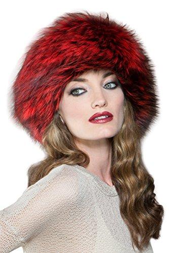 EM-EL Women's Scarlet Silver Fox Fur Headband by EM-EL