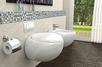 Wellness-Design Toilette Hänge-WC Klo-sett frei stehend ...